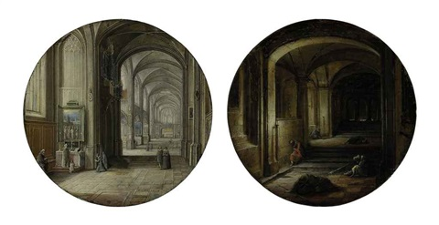 a church interior the vaults pair by hendrick van steenwyck the younger