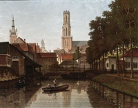 a view of bruges by françois stroobant