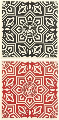 venice pattern (2 works) by shepard fairey
