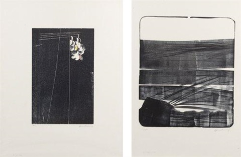 l1974 4b et h1973 201973 2 works by hans hartung