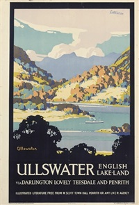 ullswater, english lake-land by john littlejohns
