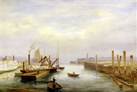 portland harbor by charles frederick kimball