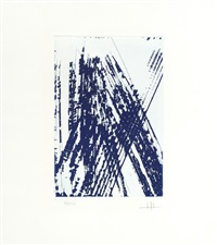 a pair of etchings by hans hartung