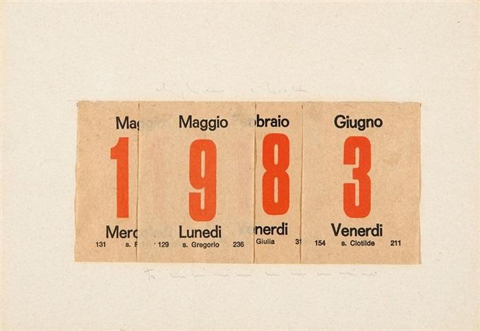 ohne titel 1983 maggio maggio febraio giugno by alighiero boetti