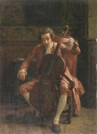 le violonceliste by charles percus