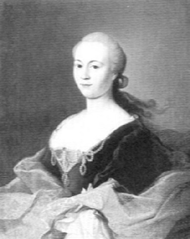 portrait of a lady madame goutier de houlter by georg caspar von prenner