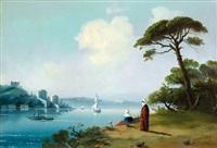 détente féminine au bord de l'eau by g. gazmadjian