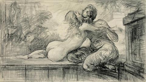 fauno e giovane donna by enrico arcioni