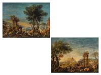 landschaftscapricci mit staffagefiguren (pair) by maria luigia raggi