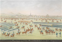 manöver auf dem glacis den 27. sept. 1836 in wien (after balthasar wigand) by rudolf hille