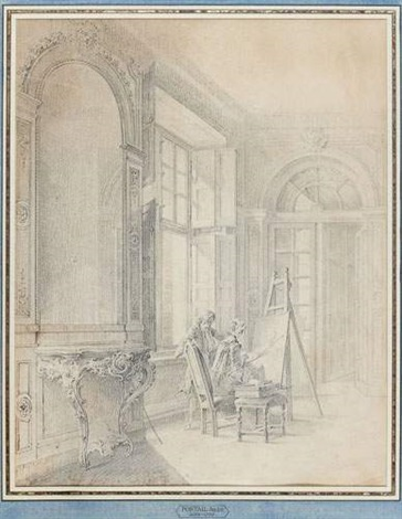 la leçon de peinture by jacques andré portail