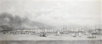 panorama of belém do pará, brazil by giuseppe leone righini