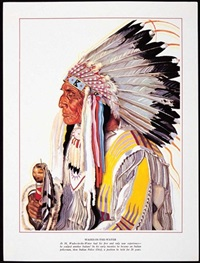 blackfeet indians of glacier national park (portfolio of 24 works) by winold reiss