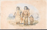 natives of elson's bay near point barrow, alaska (+ 2 others; 3 works) by william (lieutenant) smyth