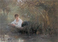 by the riverbank by gustave adolf jundt
