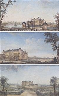 vue du château et du parc de chantilly by jean baptiste nicolas raguenet