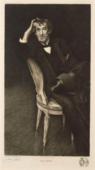 portrait of james abbott mcneill whistler (after giovanni boldini) by jacques reich