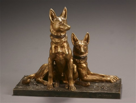 deux chiens by georges lucien vacossin