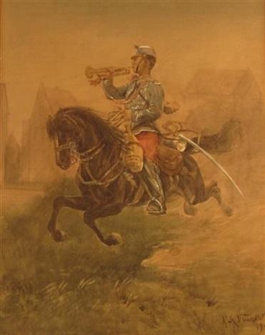 cavalry bugler by alphonse marie de neuville