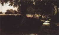 a boy fishing by charles gibbs