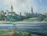 parliament buildings, ottawa by frank charles hennessey