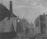 european street scene by lee lufkin kaula