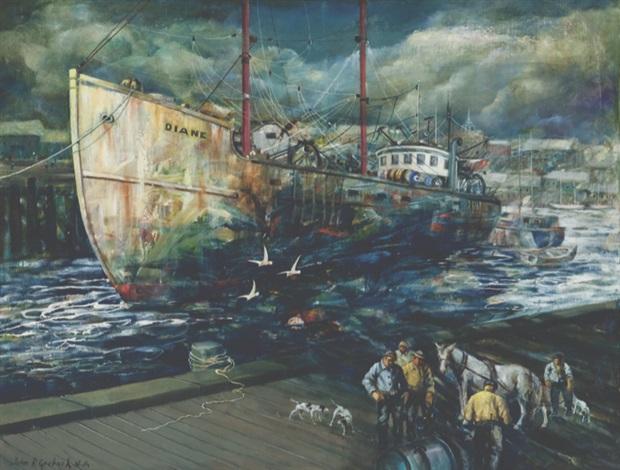 gloucester fishing boat diane by john r grabach