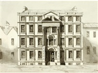 dr. bave's house, st. james rampire, bath (+ 2 others; 3 works) by henry venn lansdown