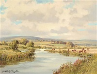 lynche's river, faughan, londonderry by arthur h. twells