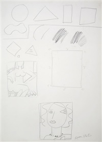 untitled abstract drawing by knox martin