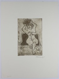 group of 10 color etching with aquatint by william gropper