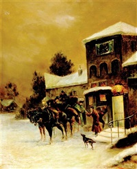 winter's night at the inn by julius von kollmann