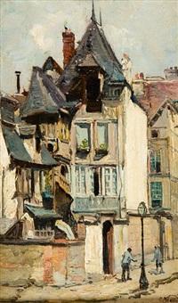 street scenes in rouen by robert noble