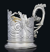 tea glass holder by wasilij semenov