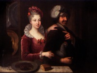 couple à la poule by jacques-françois courtin
