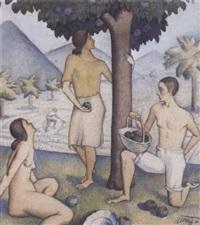 scène symboliste by francisco llorens y diaz