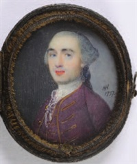 portrait of a gentleman, with powered hair by nathaniel hone the elder