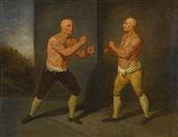 the set-to: the match between john broughton vs george stevenson by john hamilton mortimer