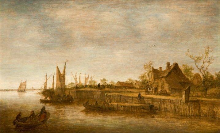 taverne au bord dun canal by jan josefsz van goyen