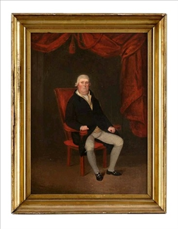 portrait of a seated gentleman by anglo american school 19