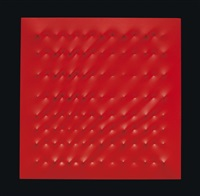 superficie rossa by enrico castellani