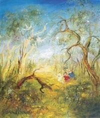untitled (three children playing) by david boyd