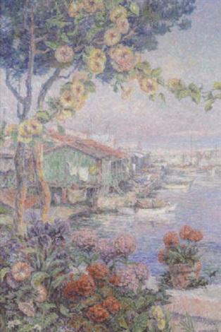 port de pêche ensoleillé by henri aurrens