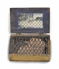 untitled (souvenir box with leaf) by joseph cornell