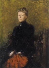 portrait maria theresia prinzessin von bourbon-sizilien, erbprinzessin von hohenzollern by julius christian rehder