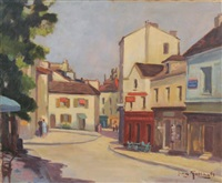 montmartre, rue norvins by jean goethals