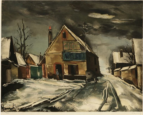 winter road by guy spitzer by maurice de vlaminck