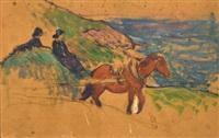 attelage devant la mer by henry moret