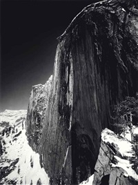 monolith, the face of half dome, 1927 by ansel adams