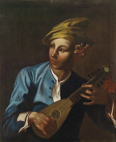 mandolinenspieler by giacomo francesco cipper
